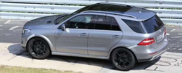 Mercedes MLC: Primele imagini spion cu rivalul lui BMW X6