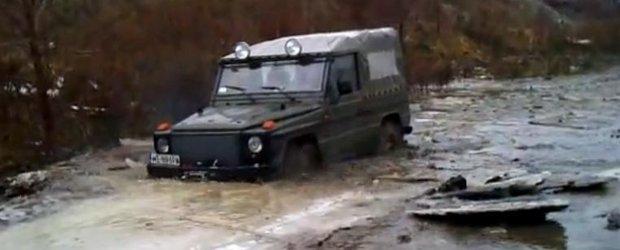Mercedes off-road: un G-Class devine spargator de gheata