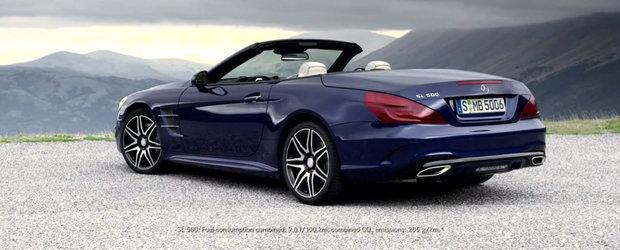 Mercedes prezinta in actiune si detaliu noul SL