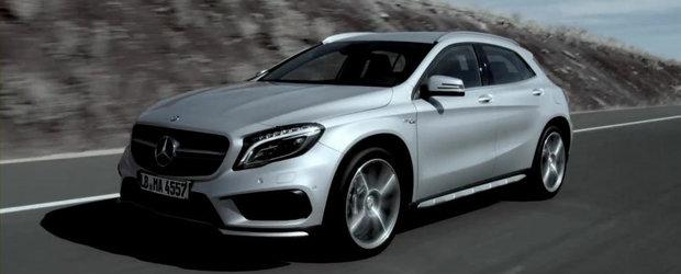 Mercedes prezinta in actiune si detaliu noul GLA45 AMG