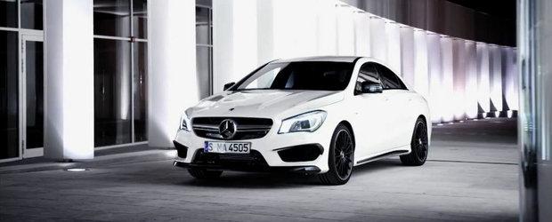 Mercedes prezinta in actiune si detaliu noul CLA45 AMG