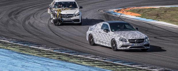 Mercedes publica o noua serie de imagini ale viitorului sau C63 Coupe