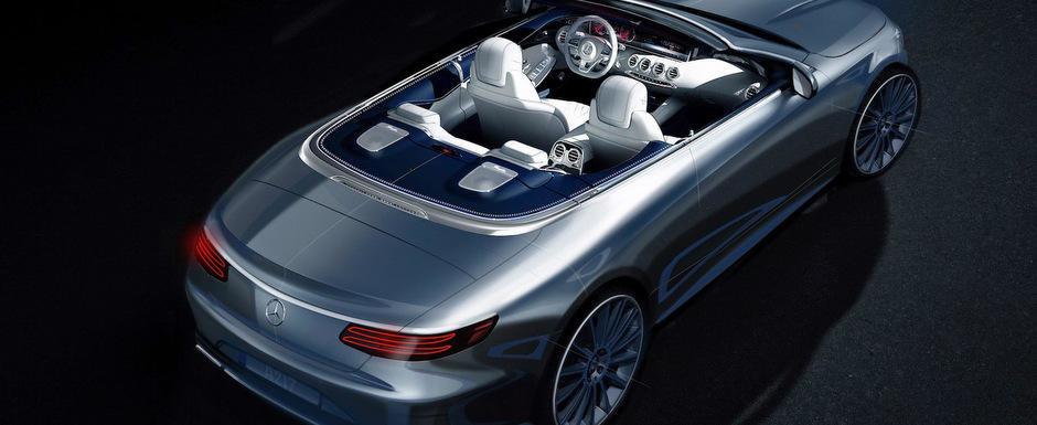 Mercedes publica prima fotografie oficiala a noului S-Class Cabriolet