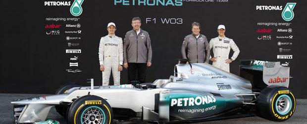 Mercedes si-a prezentat noul monopost W03 de Formula 1