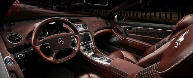 Mercedes SL by Vilner - Desfat cu piele (de reptila), lemn si alcantara