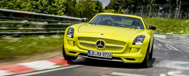 Mercedes SLS AMG Electric Drive stabileste in deplina liniste un nou record la Nurburgring