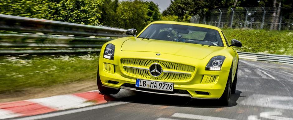Mercedes SLS AMG Electric Drive stabileste in deplina liniste un nou record la Nurburgring