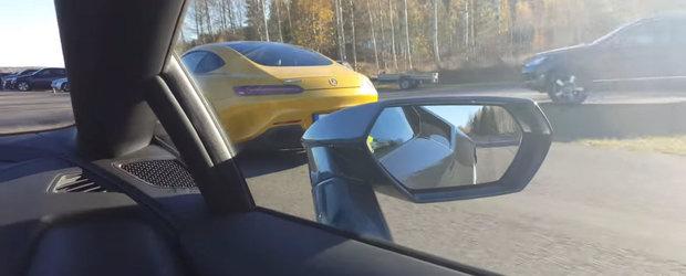 Mercedes-ul a venit la liniute cu 612 cai iar Lamborghini-ul cu...tractiunea. Cine a castigat