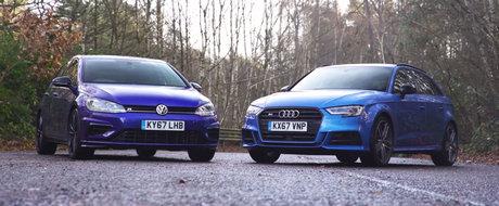 Merita Audi-ul cateva mii de euro in plus? Test comparativ intre Volkswagen Golf R si Audi S3