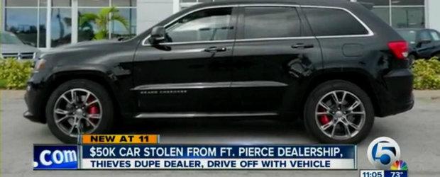 Metoda incredibila prin care doi hoti au reusit sa fure un Jeep SRT8