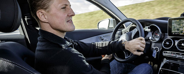 Michael Schumacher testeaza siguranta noului Mercedes C-Class