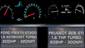 Micutele hot-hatch-uri isi incordeaza muschii. Ford Fiesta ST200 versus Peugeot 208GTi