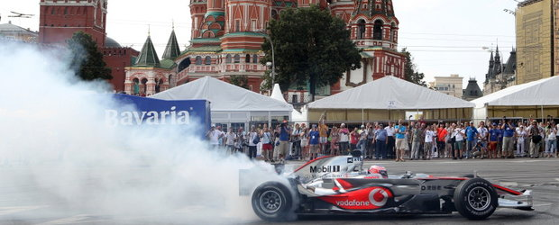 Mobil 1 si Jenson Button la Bavaria Moscow City Racing