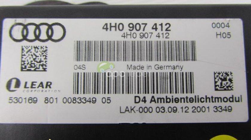 Modul ambient lumini original Audi A8 S8 4H cod 4H0907412