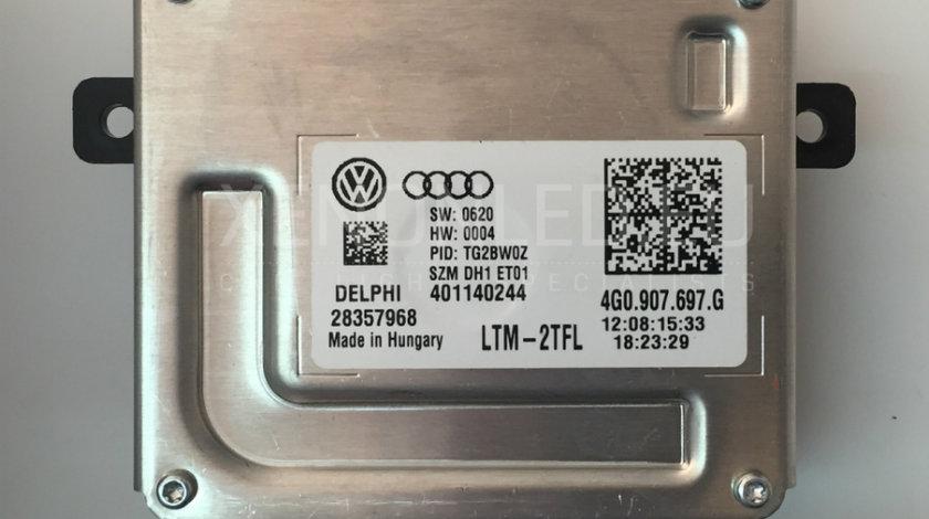 Modul Balast DRL Xenon Original SH, Echipare Fabrica Volkswagen VW Delphi 28357968 4G0907697G