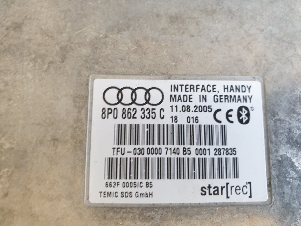 Modul bluetooth Audi A3 8P cod piesa : 8P0862335C
