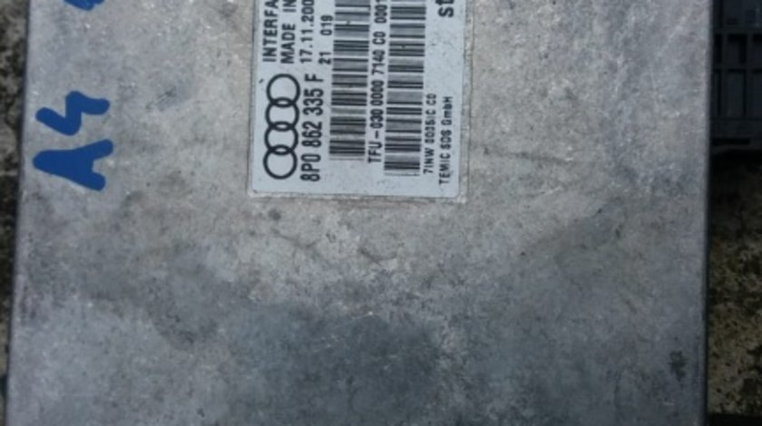 Modul bluetooth Audi A4 B6 B7 cod 8P0862335F