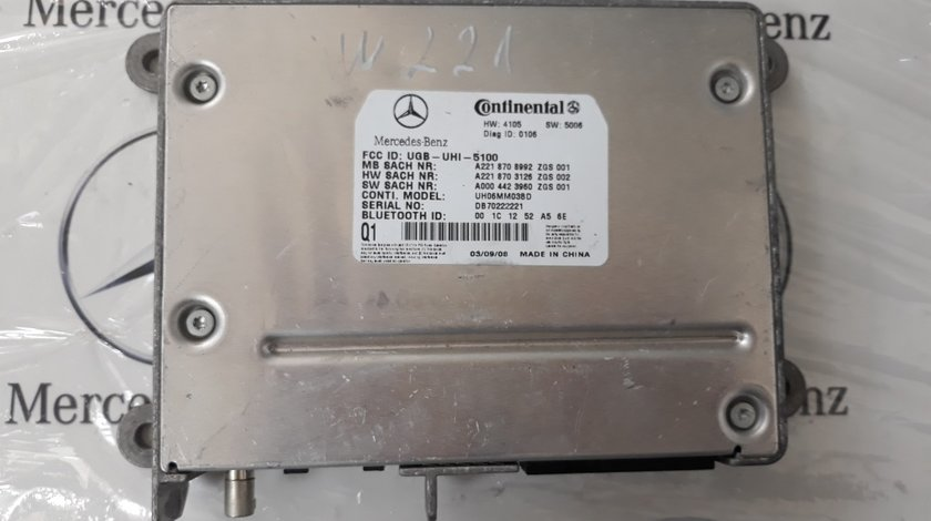 Modul bluetooth Mercedes W221 A2218708992 Continental
