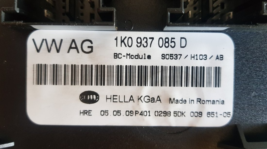 Modul / Calculator confort Skoda Yeti 1k0937085d