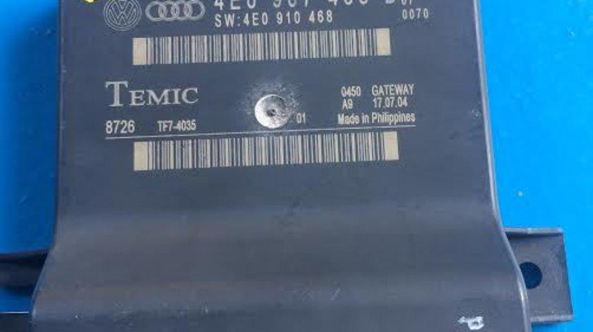 Modul Can Gateway Audi A8 4E D3 An 2002-2009 cod 4E0907468B