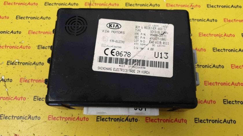 Modul Confort KIA Sportage III 2.0 CRDi, 491877-U001, 95400-3U131, BCM ASSY