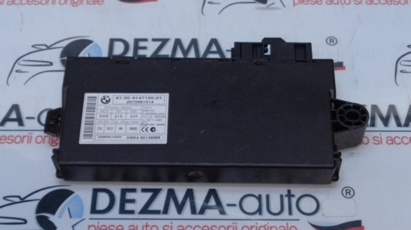Modul control central, 6135-9147195-01, Bmw 3 (E90) 2.0 d