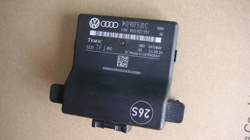 Modul control central can gateway VW Golf 5, Touran (2003-2010), Passat B6, Skoda cod 1K0907530C