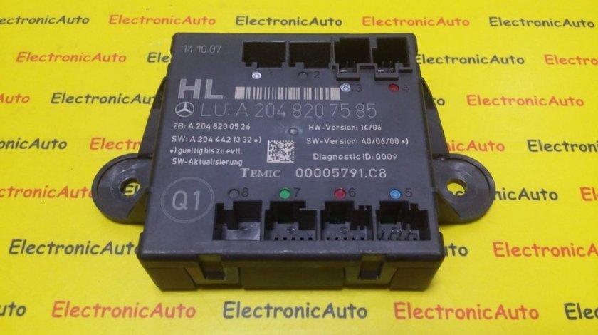 Modul Control Mercedes W204 C Class, A2048207585, A2048200526, A2044421332