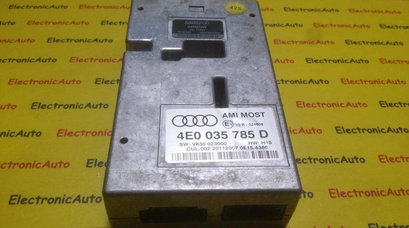 Modul electronic interfata Audi A6 4E0035785D, 4E0 035 785 D