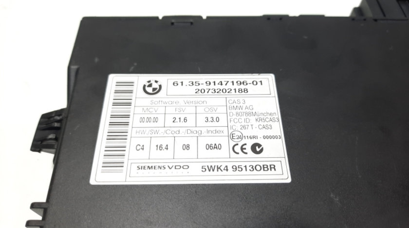 Modul inchidere centralizata, cod 9147196-01, Mini Cooper (R56) (id:474334)