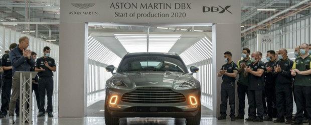 Moment istoric pentru Aston Martin. Primul SUV al companiei a intrat in productie