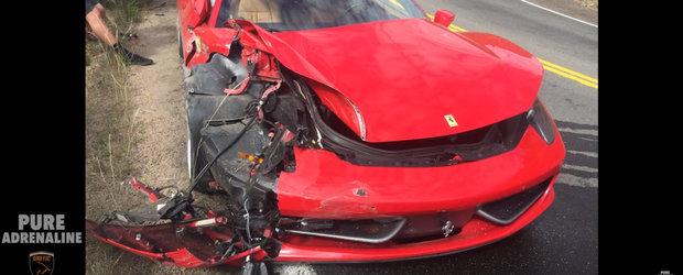 Momentul acela cand distrugi un Ferrari de peste 200.000 de euro