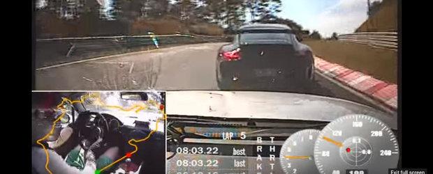 Momentul acela cand te incurca un Porsche 911 GT3 pe Nurburgring, dar tot scoti sub 8 minute cu o Mazda MX5