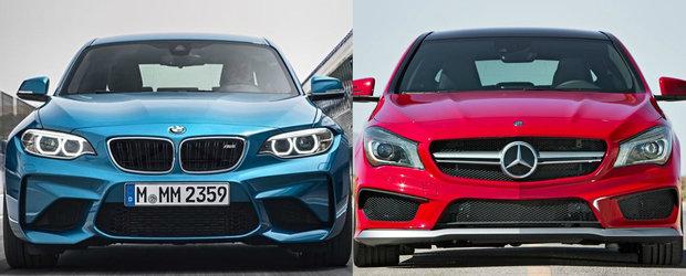 Momentul asteptat de toata lumea: Cum se descurca noul BMW M2 in fata Mercedes-ului CLA45 AMG?