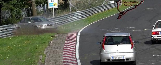 Momentul dureros in care un M3 E46 e busit serios la Nurburgring