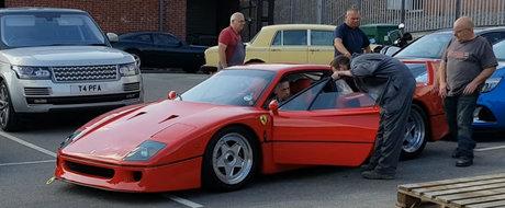 Momentul in care ii cedeaza TURBINA unui Ferrari F40 de cateva milioane de euro. VIDEO