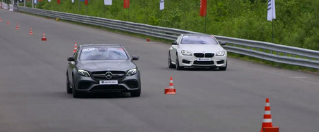 Momentul in care noua masina de la Mercedes bate un BMW de 750 cai putere. VIDEO