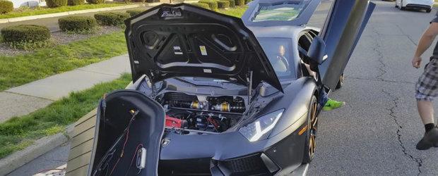 Momentul in care se strica un Lamborghini de jumatate de milion de dolari