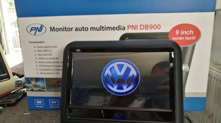MONITOR AUTO TETIERA NEGRU ECRAN 9'' BMW SERIA 1 TOUCHSCREEN DVD PLAYER SD USB PNI DB900 HD