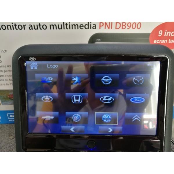 MONITOR AUTO TETIERA NEGRU ECRAN 9'' BMW Seria X TOUCHSCREEN DVD PLAYER SD USB PNI DB900 HD