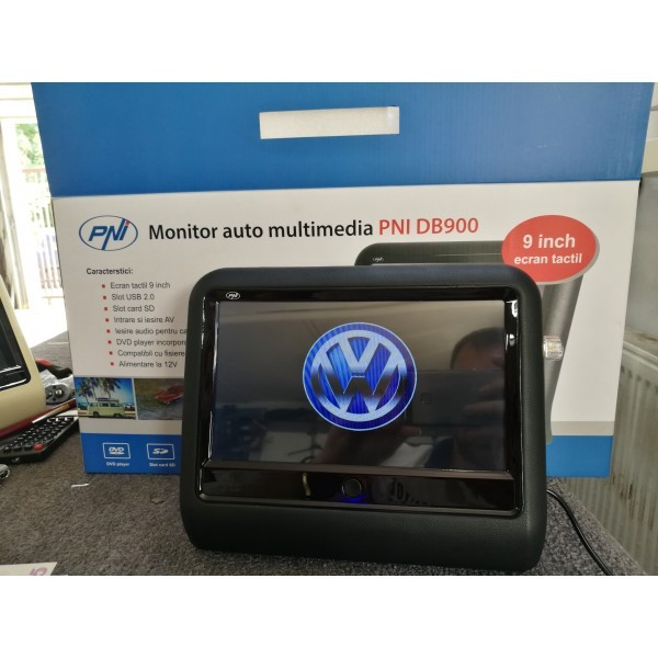 MONITOR AUTO TETIERA NEGRU ECRAN 9'' VW PASSAT CC TOUCHSCREEN DVD PLAYER SD USB PNI DB900 HD