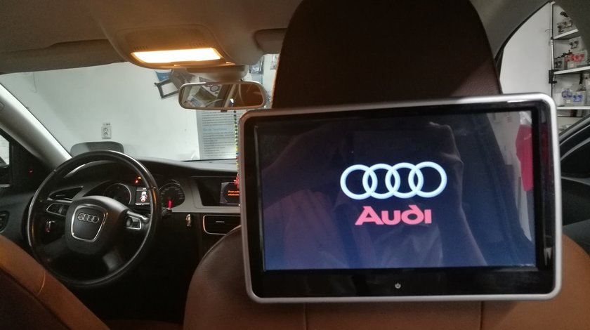"MONITOR TETIERA CU ANDROID AUDI A4 TRAVELMATE 10"" USB SD 1080P INTERNET TOUCHSCREEN REZOLUTIE HD"