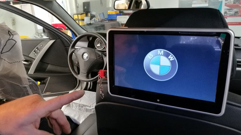"MONITOR TETIERA CU ANDROID BMW SERIA 5 TRAVELMATE 10"" USB SD 1080P INTERNET TOUCHSCREEN REZOLUTIE HD"