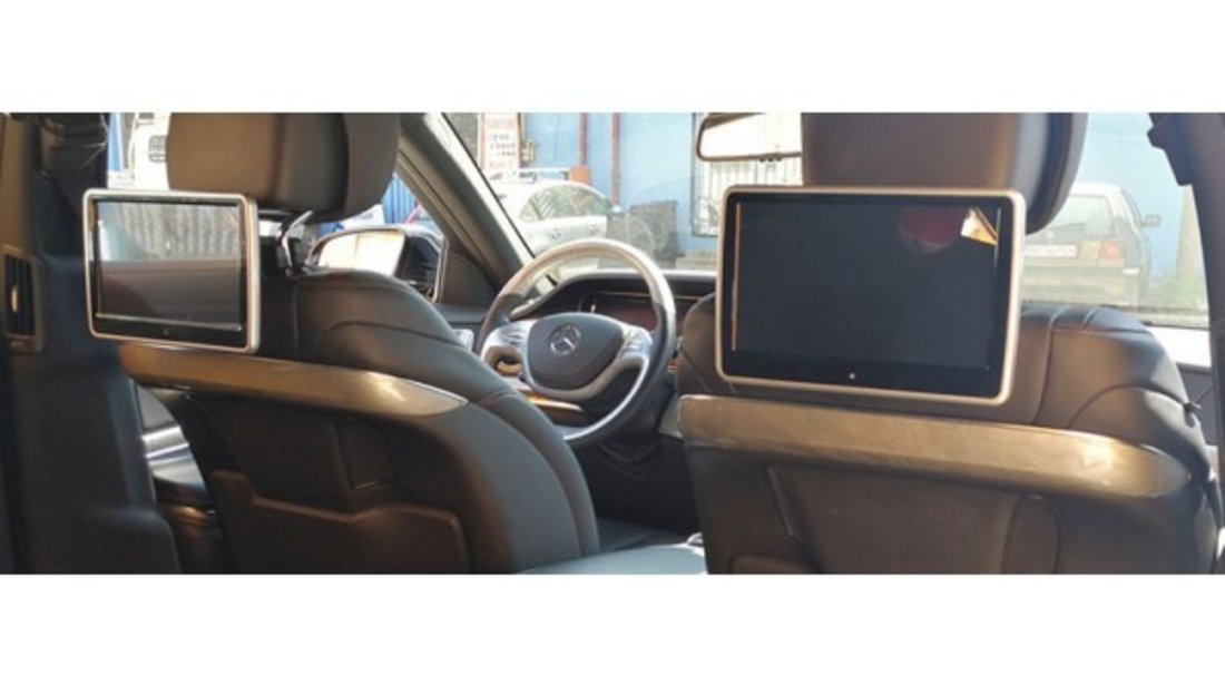"MONITOR TETIERA CU ANDROID Ford FIESTA TRAVELMATE 10"" USB SD 1080P INTERNET TOUCHSCREEN REZOLUTIE HD"
