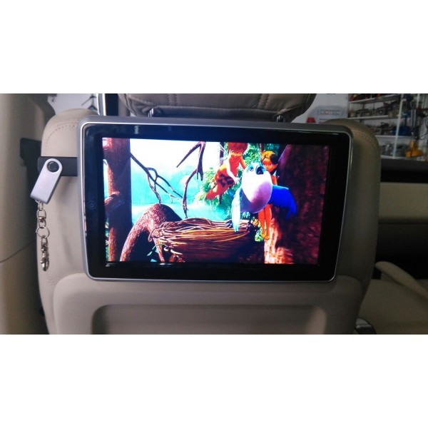 "MONITOR TETIERA CU ANDROID Ford FIESTA TRAVELMATE 10"" USB SD 1080P INTERNET TOUCHSCREEN REZOLUTIE HD"