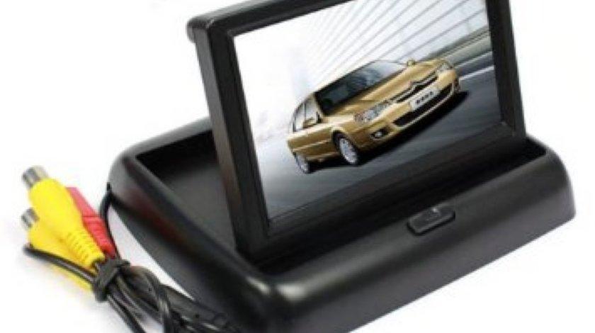 Monitor Video Auto Rabatabil Lcd 4,3 inch Pentru Camera Marsarier Model WS 438