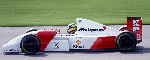 Monopostul cu care legendarul Ayrton Senna a castigat la Monaco se vinde la licitatie. Uite cu cat