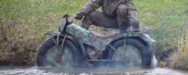 Motocicleta care merge oriunde si se pliaza exista!