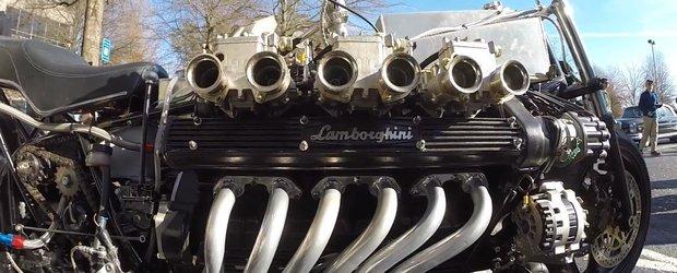 Motocicleta cu motor V12 de Lamborghini: de ce nu?