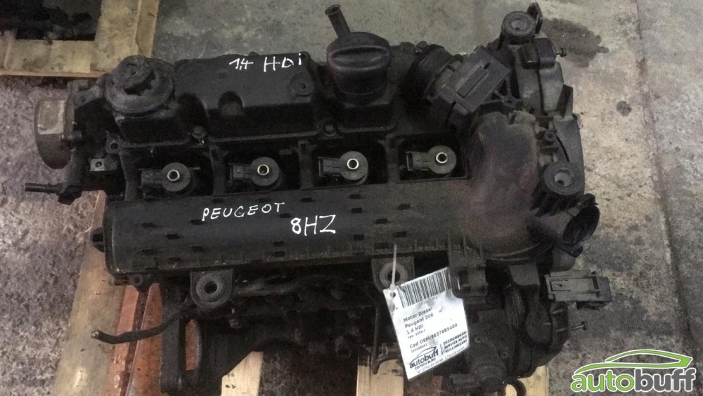 Motor Diesel Peugeot 206 (1998-2008 ) 1.4 HDI 9637885480 8HZ